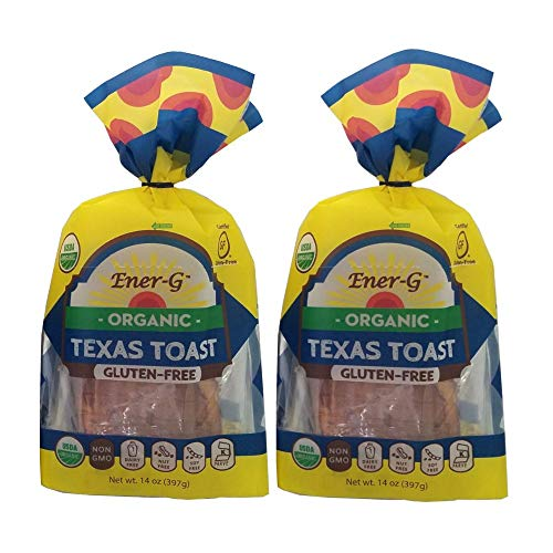 Texas Toast Gluten Free Bread by Ener-G   Organic, Non-GMO, Kosher Sliced Bread Loaf   Double Pack-14 oz/ 9 Slice Loaf