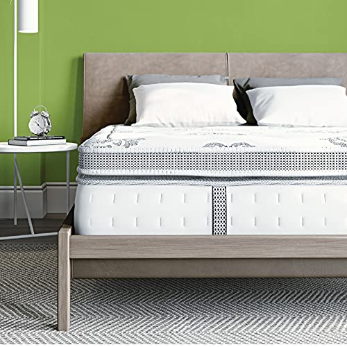 Classic Brands Gramercy Euro-Top Cool Gel Memory Foam and Innerspring Hybrid 14-Inch Mattress , King, White