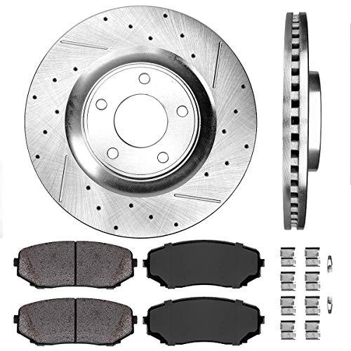 Callahan CDS02003 FRONT 320 mm Premium D/S 5 Lug [2] Brake Disc Rotors + [4]...