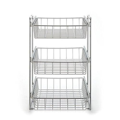 Schrankauszug Korb Kombisystem für 40er Schrank, 3 etagig