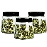 LTCTL Juego De Botes De Cocina De 3 Piezas con Tapa Esmerilada Hermética Frascos De Almacenamiento De Alimentos De Vidrio Bote De (Color : 3 pcs 900ml)