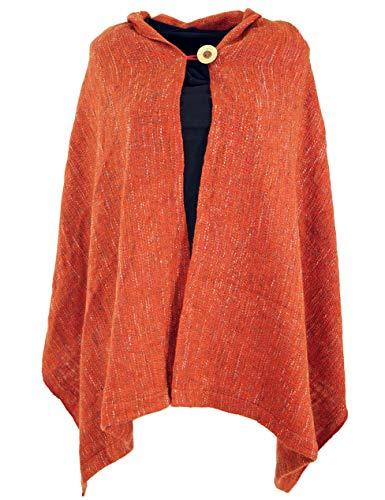 Guru-Shop Ponchoschal, Poncho, Cape Schal, Damen, Rostrot, Synthetisch, Size:40, Jacken, Mäntel & Ponchos Alternative Bekleidung