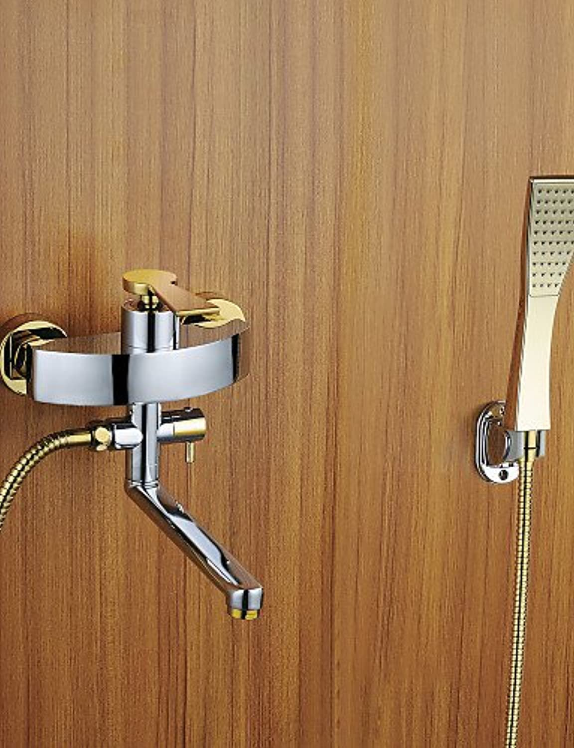 - Shower Faucet   Bathtub Faucet - Contemporary - Handshower Included - Brass (Chrome)