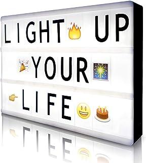 Cinema Light Box with 190 Letters Symbols Emjios- A4 Size Cinematic Light Box DIY LED..