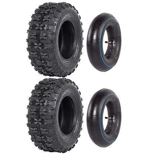 ZXTDR Juego de dos neumáticos de 13 x 5.00 – 6 y tubo interior para Go Kart ATV Scooter Quad 4 ruedas