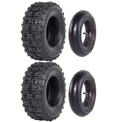 ZXTDR: 2 neumáticos delanteros y de interior para scooter, quad, bicicletas, 4 ruedas, 13 x 5.00-6 Go Kart ATV