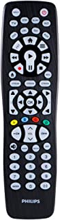 Philips Backlit Universal Remote Control For Samsung, Vizio, LG, Sony, Sharp, Roku, Apple TV, RCA, Panasonic, Smart TVs, Streaming Players, Blu-Ray, DVD, 8-Device, Black, SRP9488C/27