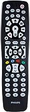 Philips Universal Remote Control, Backlit, For Samsung, Vizio, LG, Sony, Sharp, Roku, Apple TV, RCA, Panasonic, Smart TVs, Streaming Players, Blu-Ray, DVD, Simple Setup, 8-Device, Black, SRP9488C/27