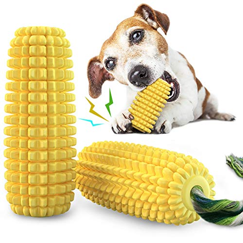 Dog Chew Toys for Aggressive Chewers, Indestructible Tough Durable Squeaky Interactive Dog Toys,...