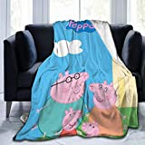 ABSFORTY Pink Pig Fastness Ultra-Soft Micro Fleece Blanket.