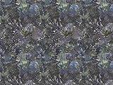 Dekostoff Vorhangstoff Samt Utopia Blumenmuster blau