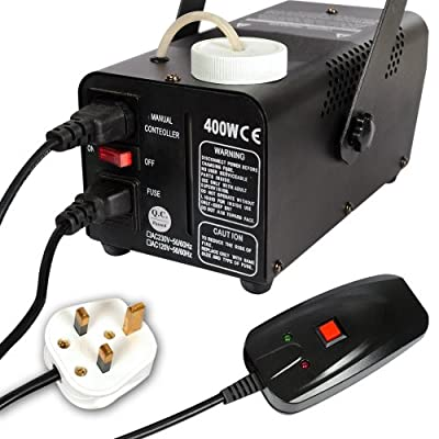 DX-MALL 400W Mini Fog Smoke Machine Fogger with Wired Remote Control Stage Effects DJ Music Party