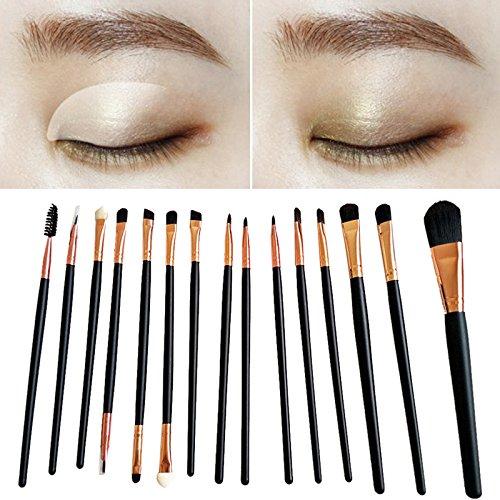 15pcs / set pinceau de maquillage ensemble outils outils de laine pinceaux