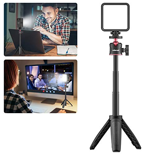 VIJIM Video Conference Lighting Kit with Tripod Stand, Laptop Light for Video Calls for Remote Working,Computer Desk Light for Zoom Call,Self Broadcasting,Live Streaming,Online Meeting