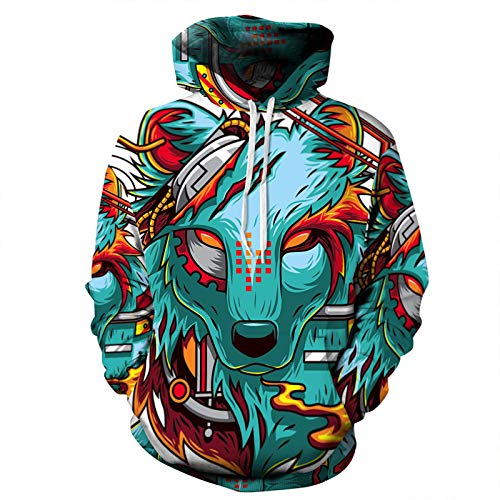 Starry Sky Animal 3D Digital Printing Hooded Sweater Couple Suit Plus Size Baseball...