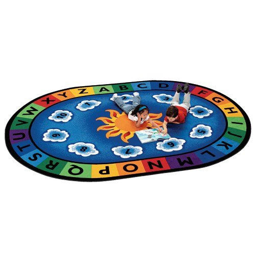Carpets for Kids Sunny Day Oval Carpet 6'9' x 9'5', 6'9'' x 9'5', Blue