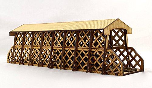 War World Scenics OO/HO Gauge Lattice Tunnel Bridge – Model Railways Layout Terrain Scenery