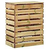 Tidyard Composteur de Jardin à Lattes Bac à Compost 80x50x100 cm Bois de pin imprégné