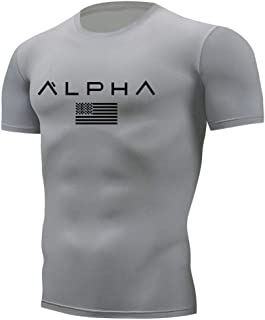 [XVIITA] Tシャツ メンズ 半袖 ジム トレーニング tシャツ タイト ストレッチ素材 ドライ 速乾