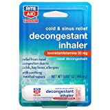 Rite Aid Nasal Decongestant Inhaler - 0.007 oz | Nasal Congestion Relief | Cold & Sinus Relief