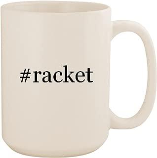 #racket - White Hashtag 15oz Ceramic Coffee Mug Cup