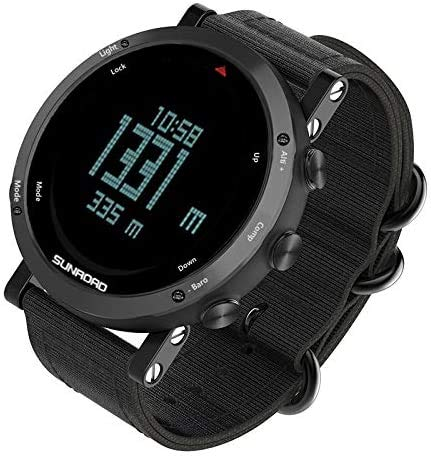 TIANYOU Smartwatch Men's Damas Digital Sports Watch Diseño Visual Ultrafino Y de Gran Angular, 5Atm Natación a Prueba de Agua, Tiempo de Cuenta Regresiva Modo de Alarma de Retroilum