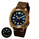 Mens Sport Watches,Men Automatic Watch San Martin Dive Watch 200m Waterproof self Wind Mechanical Wristwatch Military Watches with Bronze case, suprt Luminous, Dive Bezel (Dive Watch p17)