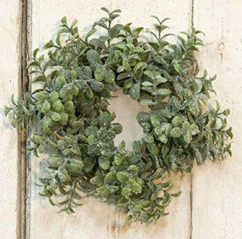 TAKAZOON Floral Décor Supplies for ICY Pebble Eucalyptus Candle Ring Green Wedding Christmas 3' Inside 8' Outside for Primitive Fall Decor, Christmas Decorations.