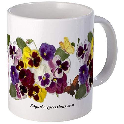 N\A Schöne, reizende Stiefmütterchen auf Einer Tasse Einzigartige Kaffeetasse, Kaffeetasse