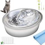 ORSDA Cat Water Fountain Stainless Steel, Pet Fountain Dog Water Dispenser, 67oz /
