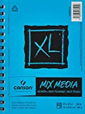 Canson XL Series Mix Paper Pad, Heavyweight, Fine Texture, Heavy Sizing for Wet or Dry Media, Side Wire Bound, 98 Pound, 5.5 x 8.5 in, 60 Sheets, 5.5'X8.5'