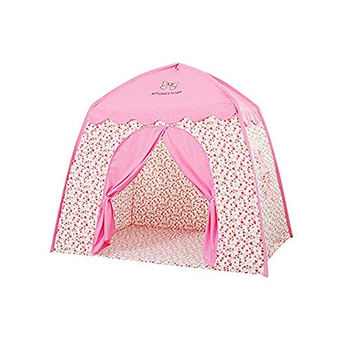 ICDOT Play Tent Kids Play House Princess Castle Play Tent For Girls Foldable Portable Canopy Teepee Tent Indoor Outdoor Playhouse For Girls Boys (Color : Pink)