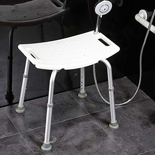 Chaise de douche réglable en aluminium, accessoire de tabouret de douche Old Man Aid, tabouret de salle de bain antidérapant grand, chaise de bain enceinte pour petits espaces - Blanc - jusqu'à 330 li
