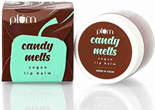 Plum 100% Vegan Mint-o-Coco Candy Melts Vegan Tinted Lip Balm treats Dry and chapped Lip Suitable for all, 12gm