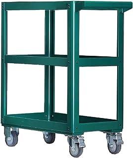 BoeWan Tool Trolley Workbench Three-Tray Service/Utility Cart Workshop Trolley Metal Multi-Function Parts Cart on Wheels T...