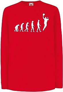 lepni.me, Camisetas de Manga Larga para Niño evolución de Baloncesto - Canasta de la Calle, me Encanta Este Juego, Gran Fan de Regalo