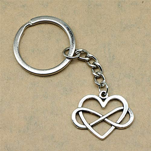 YCEOT Keychain for Keys Infinity Love HeartSuppliers Wholesalers 27X22Mm Pendant Silver Plated