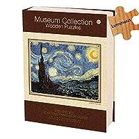 古典的な有名な絵の紙のパズル- DIY木製千枚の大人のジグソーパズル解凍おもちゃの世界的に有名な絵画の風景画若者のパズルゲーム - 星空の空(* 50CM 70)