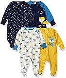 Gerber Baby Boys' 4 Pack Sleep N' Play Footie, Fox, 6-9 Months