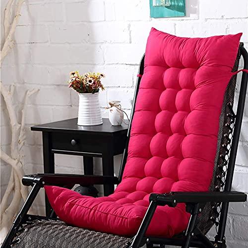 Yxxc Hängesets Patio-Kissen-Stuhlpolster mit hoher Rückenlehne, Patio-Stuhl-Patio-Kissen Verdicken Sie das Rückenlehnenkissen Sessel Chaise Lounge Pad Mat 100% Pearl Cotton-Ro