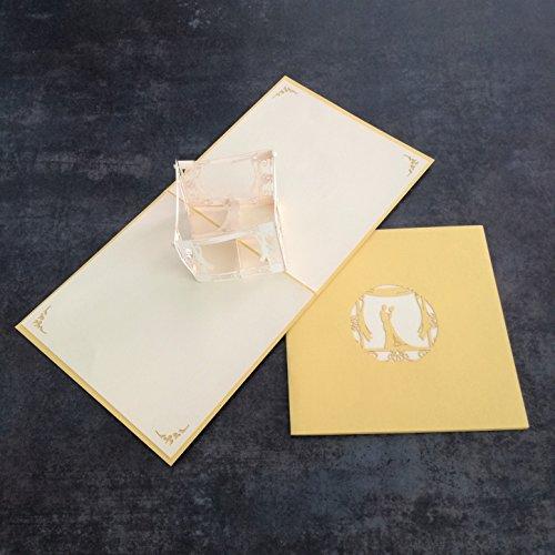 Tarjetas de felicitación de cumpleaños con diseño de cubo de boda y tarjeta de felicitación de cumpleaños hecha a mano de Kirigami, papel de origami, tarjetas de felicitación 3D