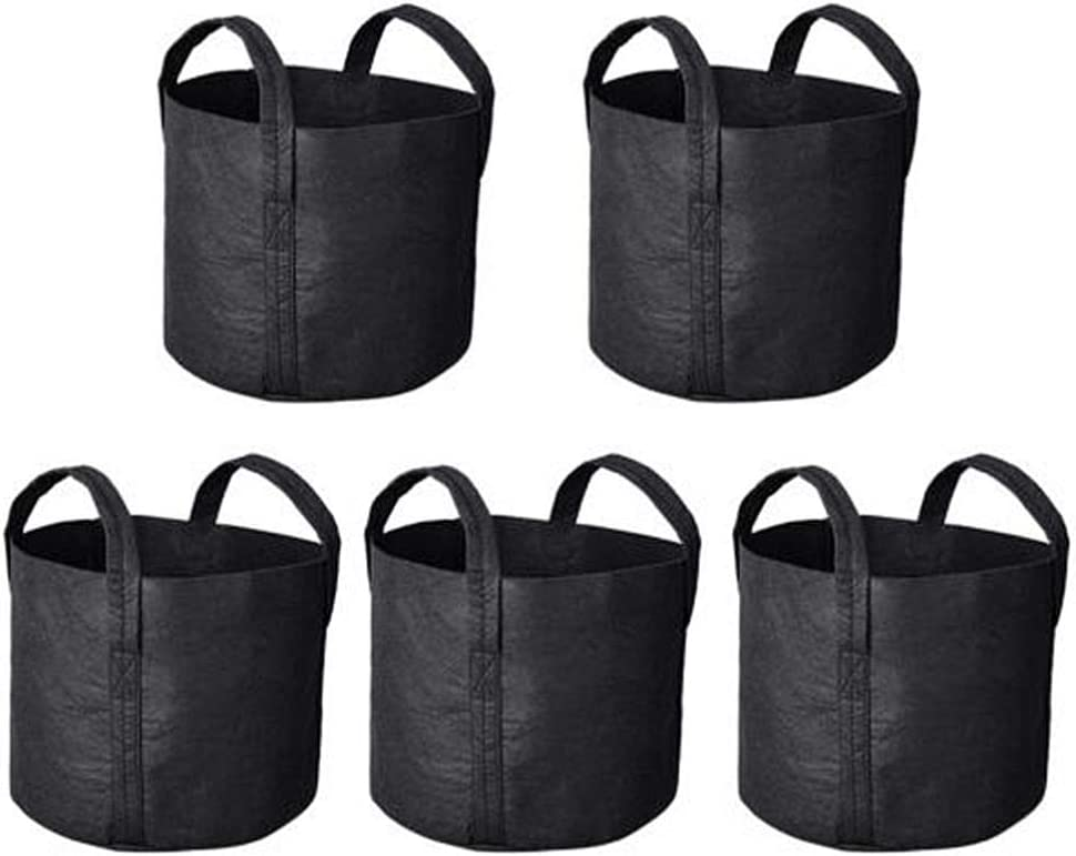 Hemoton 5Pcs Felt Planting Bags Plant Grow Garden Aeration store Limited time for free shipping