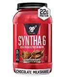 BSN SYNTHA-6 Whey Protein Powder, Micellar Casein, Milk Protein Isolate, Chocolate Milkshake, 28 Servings (Packaging May Vary)