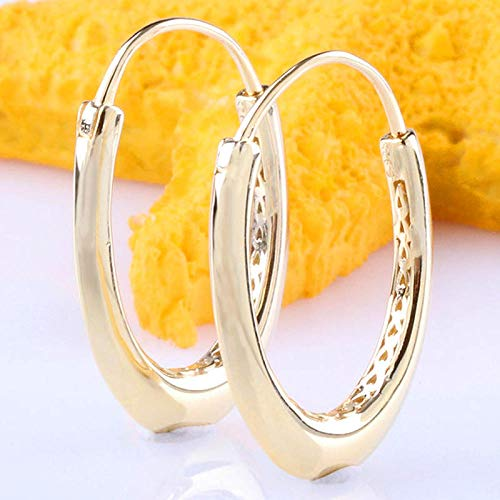 HGDS Pendiente Grueso Dorado Original con Forma de corazón para Mujer, Pendiente de Plata de Ley 925, Regalo de Boda DIY-UN