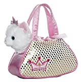 Aurora 12711 - Animali in Borsetta Cat, 22 cm, Bianco