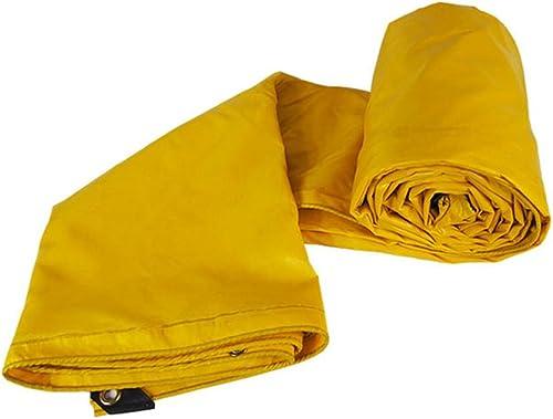 Tarpaulin HUO Feuilles Résistantes De Bache pour des Camions Entreposant, Jaune Imperméable Anti-UV De Larme-résistance De Toile (Couleur   Le Jaune, Taille   4  8m)