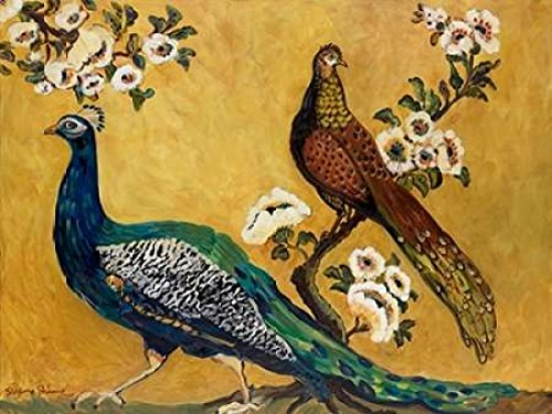 Posterazzi Peacocks Poster Print by Suzanne Etienne, (18 x 24)