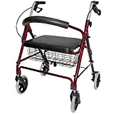 Best Rollators - DMI Rollator Walker with Extra Wide Seat Review