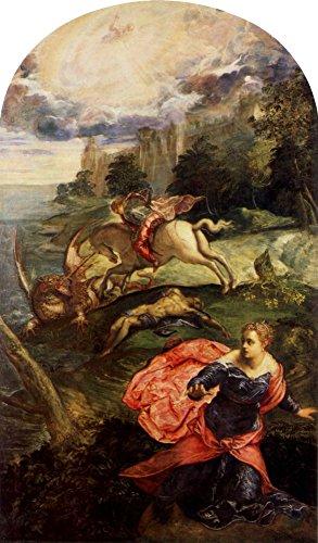 Das Museum Outlet–St. George und der Drache von Tintoretto–Poster Print Online kaufen (101,6x 127cm)