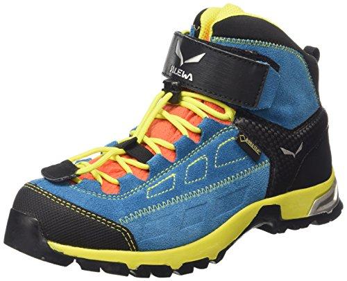 Salewa Unisex-Kinder JR ALP PLAYER MID GTX Trekking- & Wanderstiefel, Blau (Crystal/Citro 2412), 30...